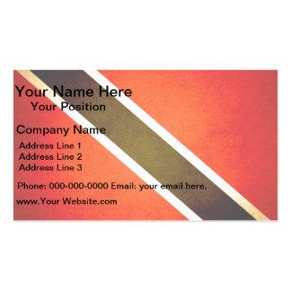 Sun kissed Trinidad and Tobago Flag Business Card