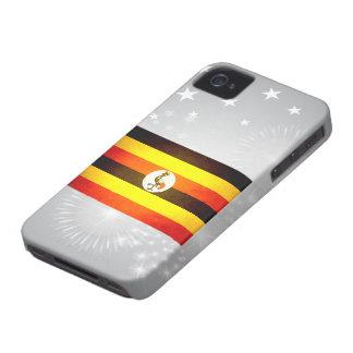 Sun kissed Uganda Flag iPhone 4 Case-Mate Cases
