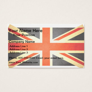 Sun kissed United Kingdom Flag Business Card