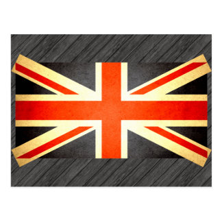 Sun kissed United Kingdom Flag Postcard