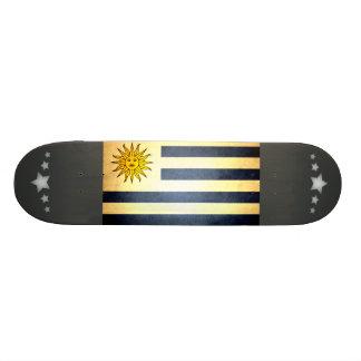 Sun kissed Uruguay Flag Skateboard Deck