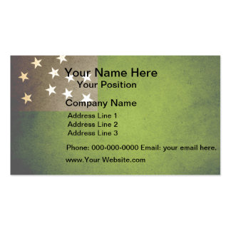 Sun kissed Vermont Republic Flag Business Card