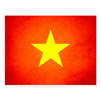 Sun kissed Vietnam Flag Postcard