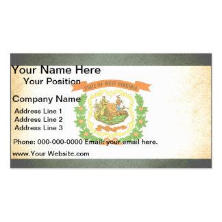 Sun kissed West Virginia Flag Business Card