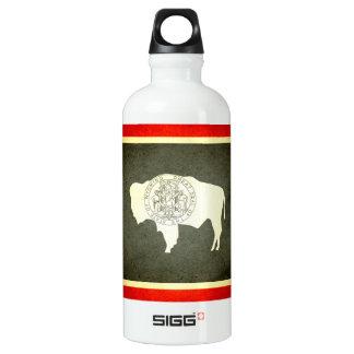 Sun kissed Wyoming Flag Aluminum Water Bottle