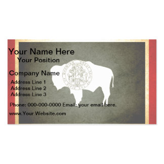 Sun kissed Wyoming Flag Business Card