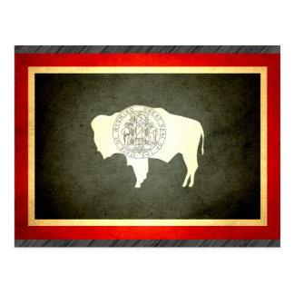 Sun kissed Wyoming Flag Postcard