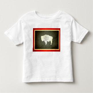 Sun kissed Wyoming Flag Toddler T-shirt
