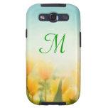 Sun Kissed Yellow Tulip Monogram Samsung Galaxy S3 Galaxy SIII Covers