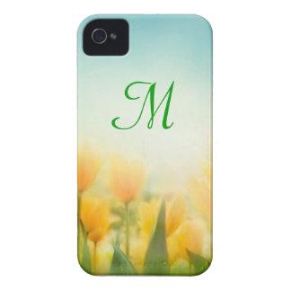 Sun Kissed Yellow Tulips Monogram IPHONE 4 Case