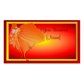 Sun Lady Butterfly Business Card