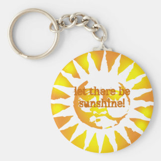 sun, let there be sunshine! basic round button keychain