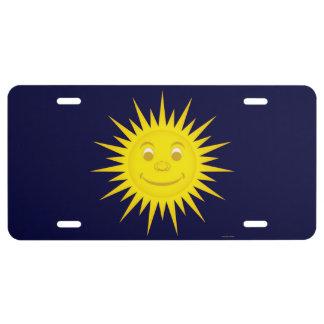 Sun License Plate