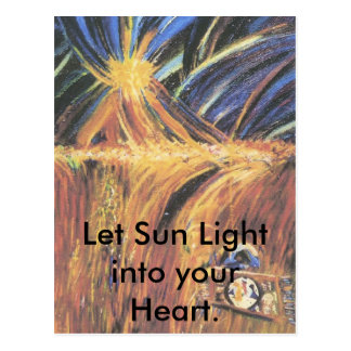 Sun Light into your Heart.. Postcard