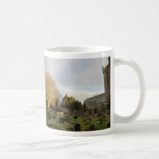 Sun Lights Up a Tree in Culross Abbey Churchyard Classic White Coffee Mug