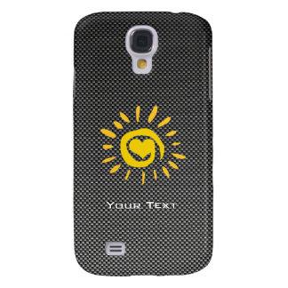 Sun lindo; Falsa fibra de carbono Funda Para Galaxy S4