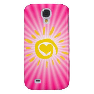 Sun lindo; Rosa Funda Para Galaxy S4