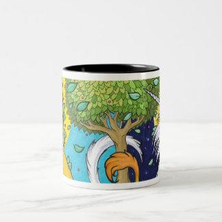 Sun Lion, Moon Unicorn Two-Tone Coffee Mug