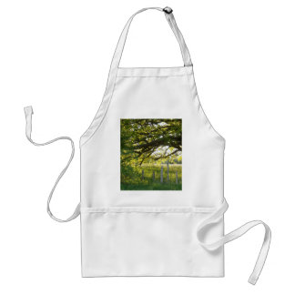 Sun Lit Field And Trees Adult Apron