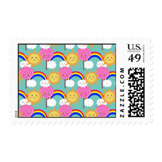Sun Lolly Rainbow, Stamp
