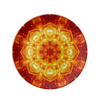 Sun Lotus Mandala Porcelain Plate