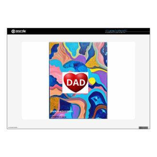 """Sun Love Dad 15"""" Laptop Skins"""