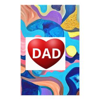 Sun Love Dad Stationery