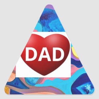 Sun Love Dad Triangle Sticker