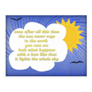 Sun Love For Earth by Hafiz Postcard