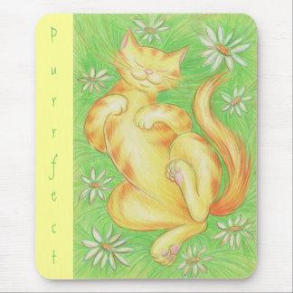 Sun Lover 'Purrfect' mousepad yellow