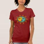 Sun/luna Camisetas