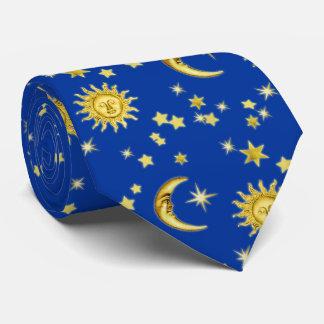 Sun, luna y estrellas corbatas