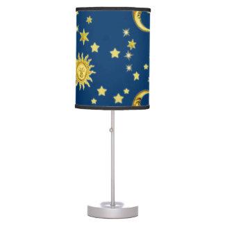 Sun, luna y estrellas lámpara de escritorio