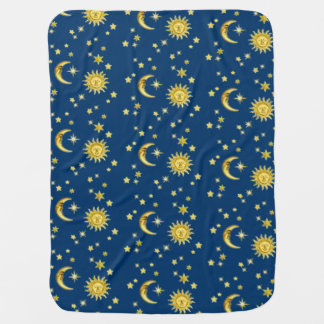 Sun, luna y estrellas manta de bebé