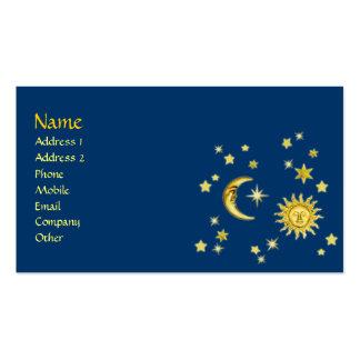 Sun, luna y estrellas tarjetas de visita
