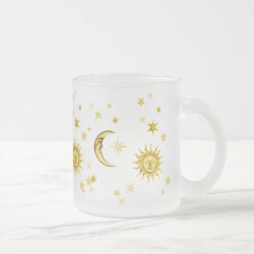 Sun, luna y estrellas taza