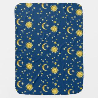 Sun, luna y estrellas mantitas para bebé