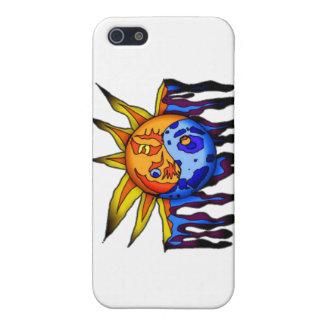 Sun/luna Yin Yang iPhone 5 Carcasas