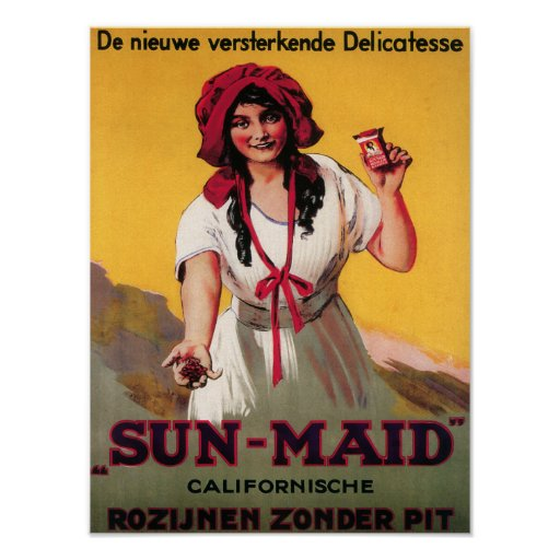 Sun-Maid California Raisin Poster