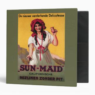 Sun-Maid California Raisin Poster 3 Ring Binder