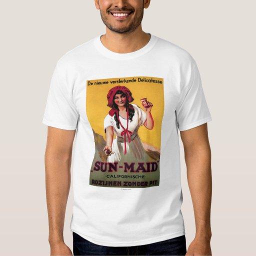 Sun maid california raisin poster shirts zazzle for Sun t shirts sunland california