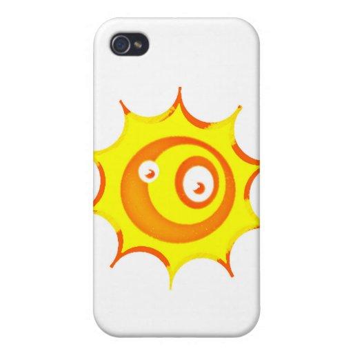 Sun mancha la caja dura del iphone de Shell iPhone 4/4S Fundas