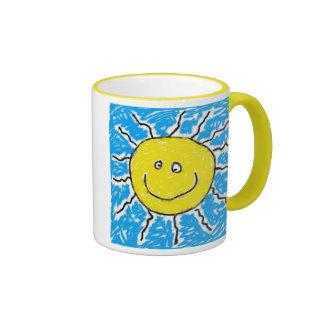 Sun manchado taza de café