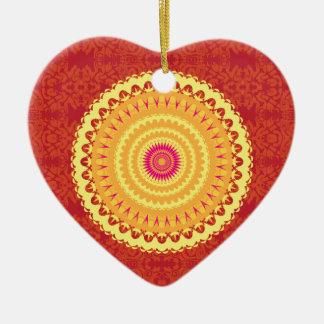 Sun Mandala Ceramic Ornament