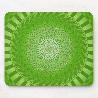 Sun Mandala green Mouse Pad