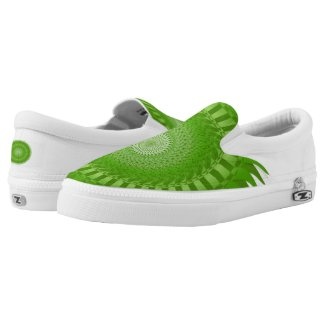 Sun Mandala green Slip-On Sneakers