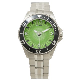 Sun Mandala green Wrist Watch
