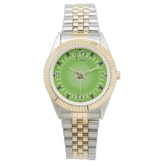 Sun Mandala green Wristwatch