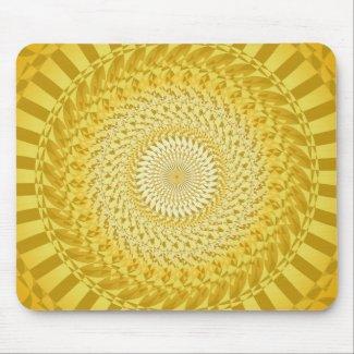 Sun Mandala in Yellow Mouse Pad
