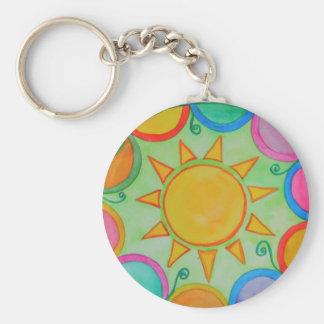 Sun Mandala Keychain